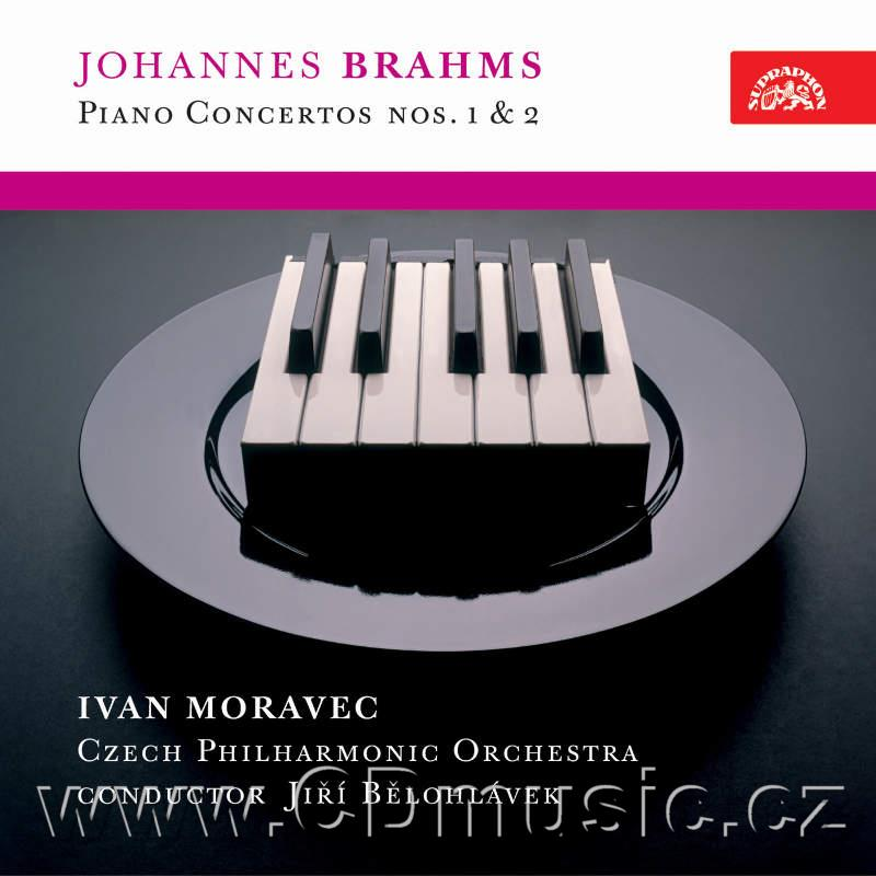 BRAHMS J. CONCERTOS FOR PIANO AND ORCHESTRA Nos.1,2 Op.15,83 / I.Moravec piano / CPO / J.B