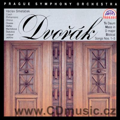 DVOŘÁK A. MASS IN D MAJOR Op.86 orch.version, TE DEUM Op.103, BIBLICAL SONGS 1-5