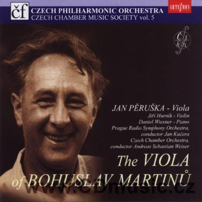 MARTINŮ B. RHAPSODY - CONCERTO FOR VIOLA AND ORCHESTRA H. 337, THREE MADRIGALS, SONATA...
