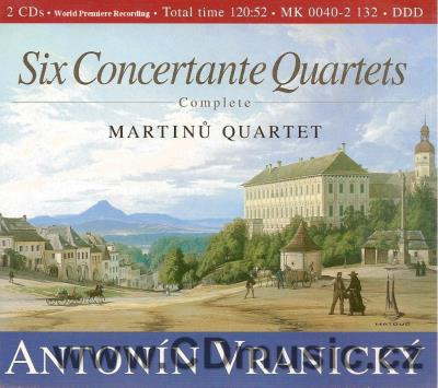 VRANICKÝ A. (1761-1820) COMPLETE CONCERTANTE QUARTETS No.1-6 / Martinů Quartet (2CD)