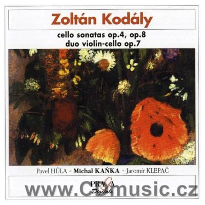 KODÁLY Z. SONATA FOR CELLO Op.8, DUO FOR VIOLIN AND CELLO Op.7, SONATA FOR CELLO AND PIANO