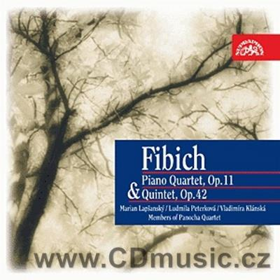 FIBICH Z. QUARTET FOR VIOLIN, VIOLA, CELLO AND PIANO in E minor Op.11, QUINTET FOR PIANO,